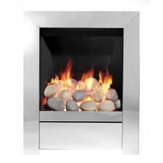 Be Modern Sensation Inset Gas Fire - Chrome/Pebble Slimline