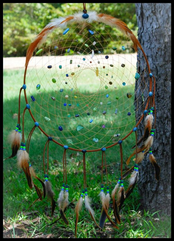 Native American Made Dream Catcher Big by ourlostangelsdesigns. Explore more products on http://ourlostangelsdesigns.etsy.com