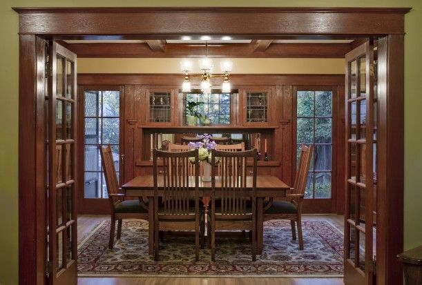 Photo tour of a restored 1912 Craftsman. I love love love how they reclaimed the woodwork.