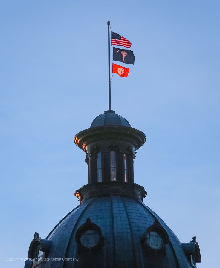 Governor Haley orders Clemson flag to fly atop SC State House on Jan. 10, 2017 in honor of National Championship Win