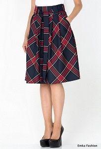 Клетчатая юбка Emka Fashion 247-shanel