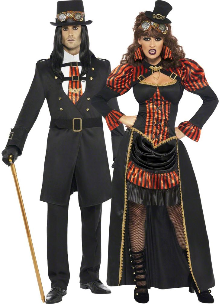Steampunk costume for couples vegaoo couples costumes costumes pinterest steampunk - Deguisement couple halloween ...