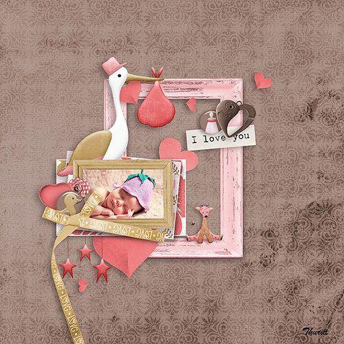 Baby Girl Love by Aurélie Scrap | digital-crea.fr/shop/index.php?main_page=index&cPath=...