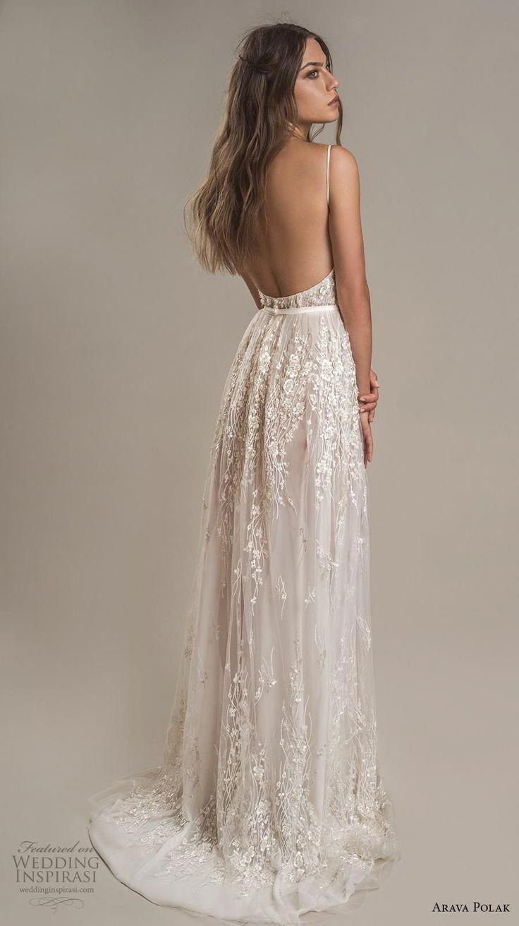 Weddinginspirasi.com featuring – arava polak 2019 bridal sleeveless spaghetti st…