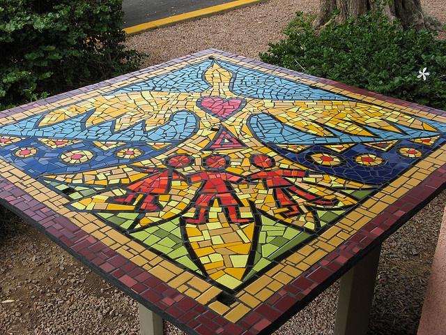 love/peace mosaic marathon by mosaic art source, via Flickr