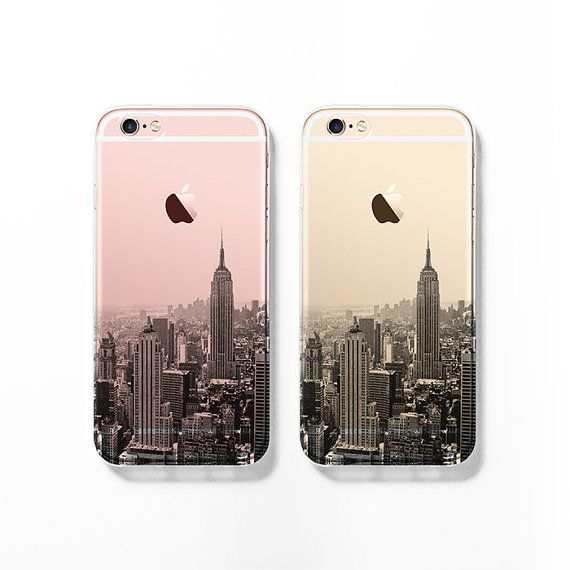 Show off your new rose gold iPhone 6s with this New York city clear / transparent case! This is a lovely and unique iPhone 6 / 6s made one at a time