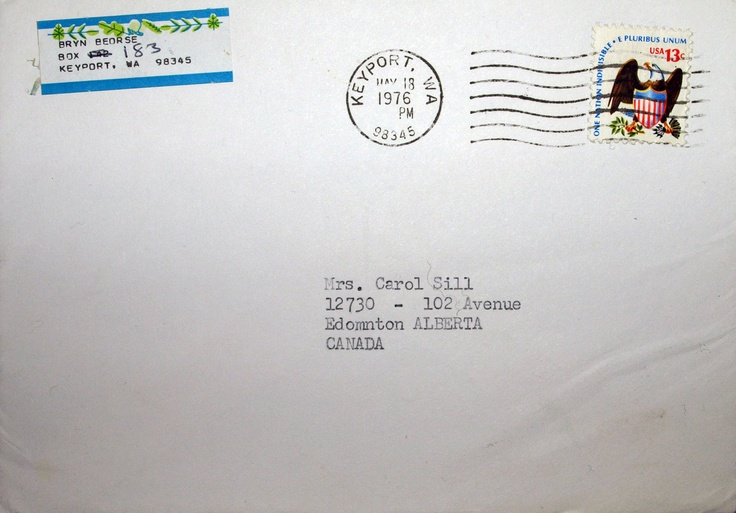Envelope from one of Shamcher's letters