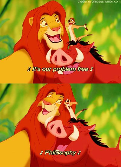 Day 25) Favourite Lyrics:   Hakuna Matata! What a wonderful phrase  Hakuna Matata! Ain't no passing craze  It means no worries for the rest of your days  It's our problem-free philosophy  Hakuna Matata! - Lion King. <3