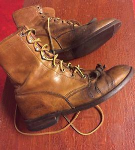 Vintage Men's Justin Roper Boots Size 6/Women's Size 8    eBay