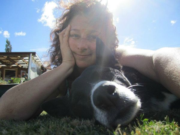 """The Essential Doggy Guide co-pawthor Bella pictured with her """"human"""" Fiona Dewar (who did help with the book!!) along with other pawthor Cassie and her human, Lorraine Green. Photo supplied to Think #Tasmania by Fiona Dewar."""