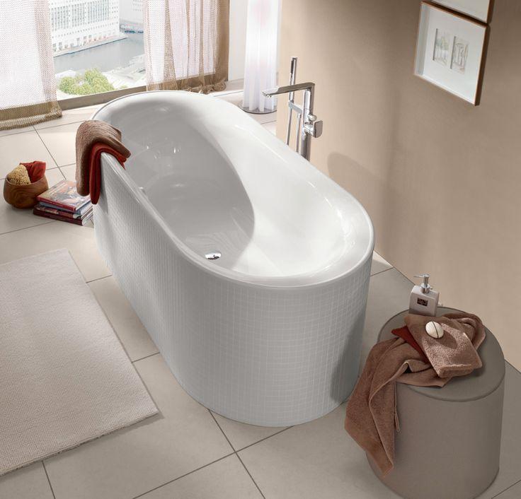 UBQ175CEU7V-01 Villeroy & Boch  V&B Cetus Ovalt badekar for innbygging 1700x750 mm. Produsert i Quaryl