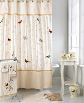Avanti Bath Accessories, Gilded Birds Shower Curtain