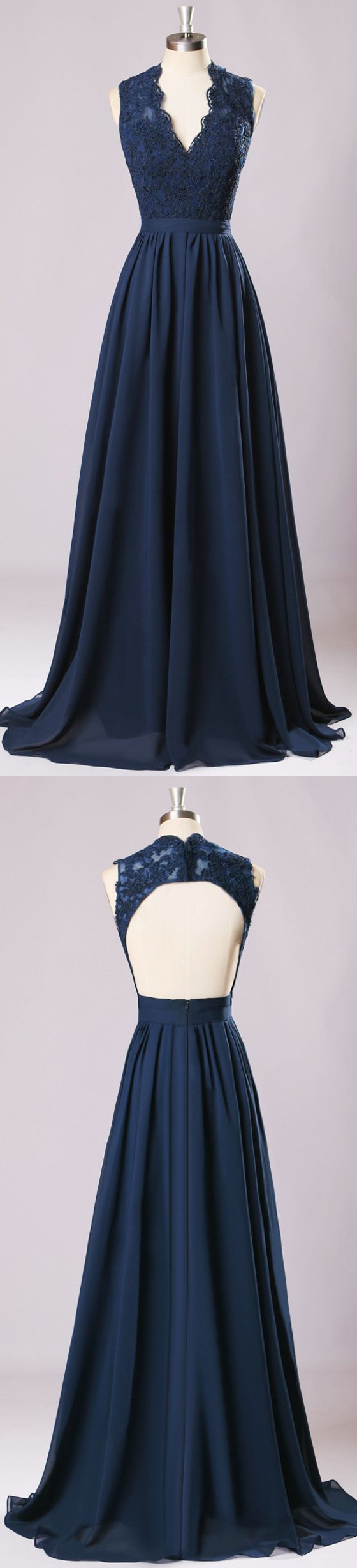 Best 20 navy bridesmaid dresses ideas on pinterestno signup new long bridesmaid dresses navy blue chiffon wedding party gownoff shoulder maid of ombrellifo Image collections