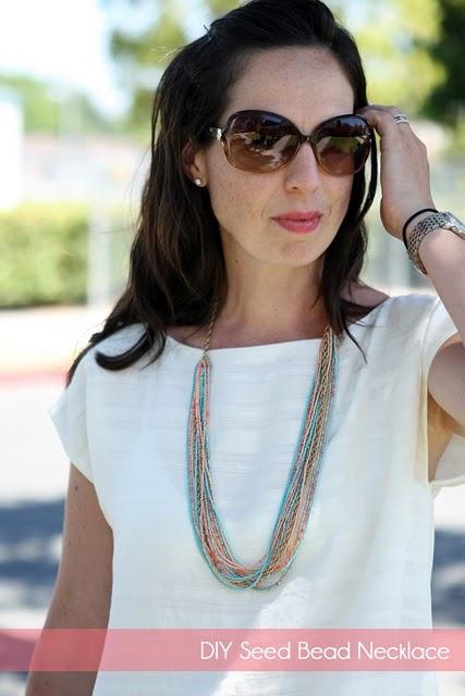 diy seed bead necklace tutorial Must try! @ecrafty #ecrafty #diynecklaces #jewelrysupplies #neckcords