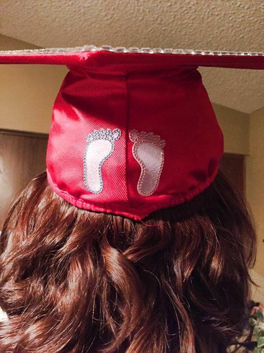Baby nurse graduation cap