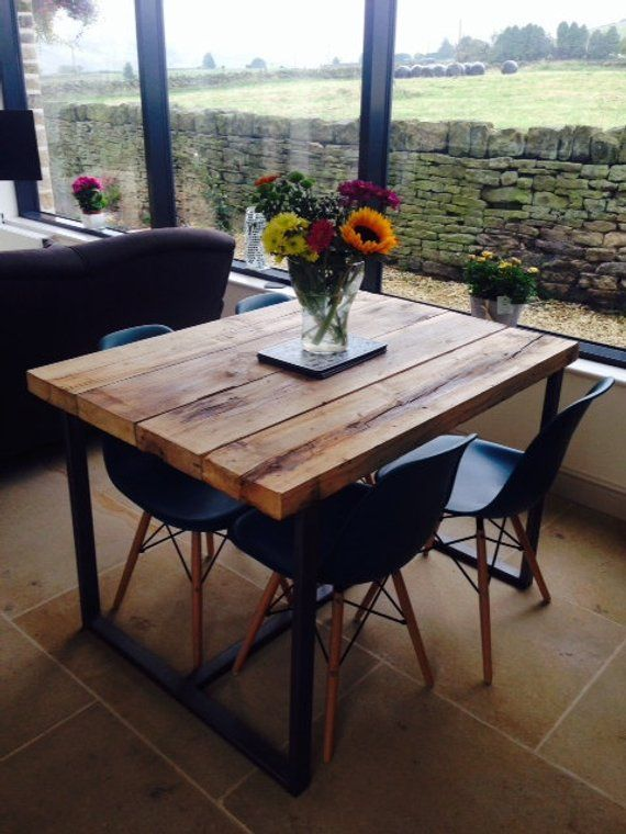 Reclaimed Industrial Chic 4 6 Seater Dining Table Bar Cafe