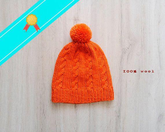 Tigers hat hipster beanie pom pom hat ski hats wool knit hat