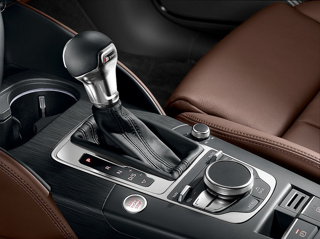 The Audi A3 gearstick which feels well made and easy to hold in the hand.    Find out more about the New Audi A3 here:    www.m25audi.co.uk/new-a3.html