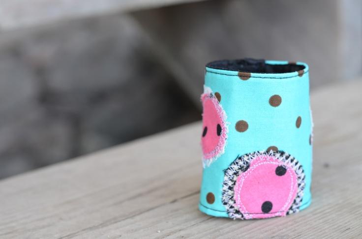 Turquoise polka dot bracelet by morgan cleopatra