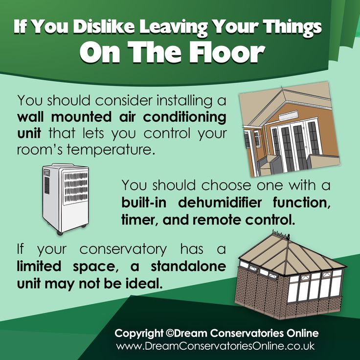 Using air conditioning/ dehumidifier in your conservatories depending upon the seasons.