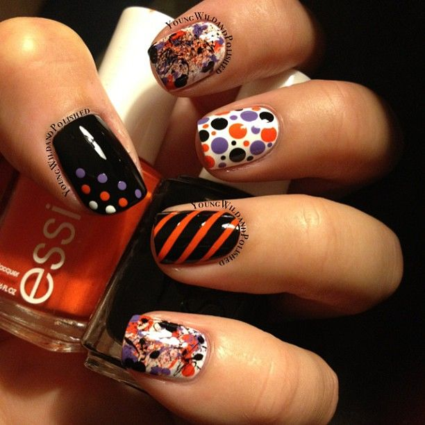 Nail Colors Halloween: 438 Best Halloween Nail Designs Images On Pinterest