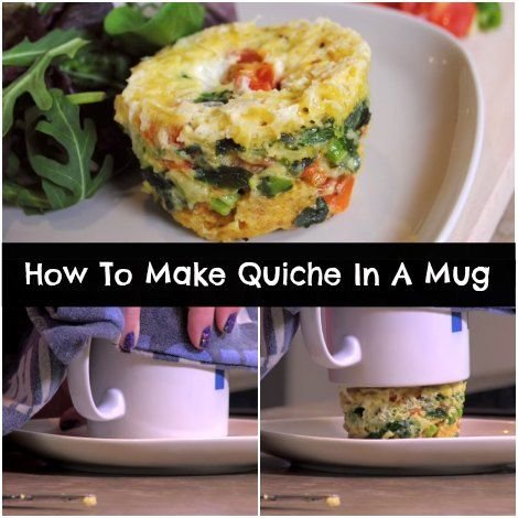 How To Make Quiche In A Mug | Make Quiche In A Mug For A Quick Meal | Short on time? Make a quick quiche in a mug using your favorite ingredients and enjoy!