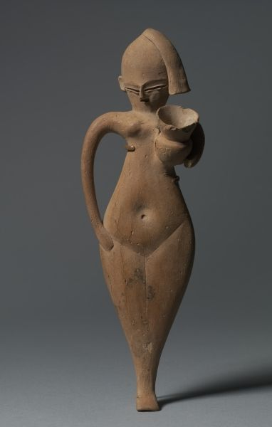 Statuette of a Serving Girl, c. 1323-1186 BC, Egypt, New Kingdom, late Dynasty 18 (1540-1296 BC) to Dynasty 19 (1295-1186 BC)