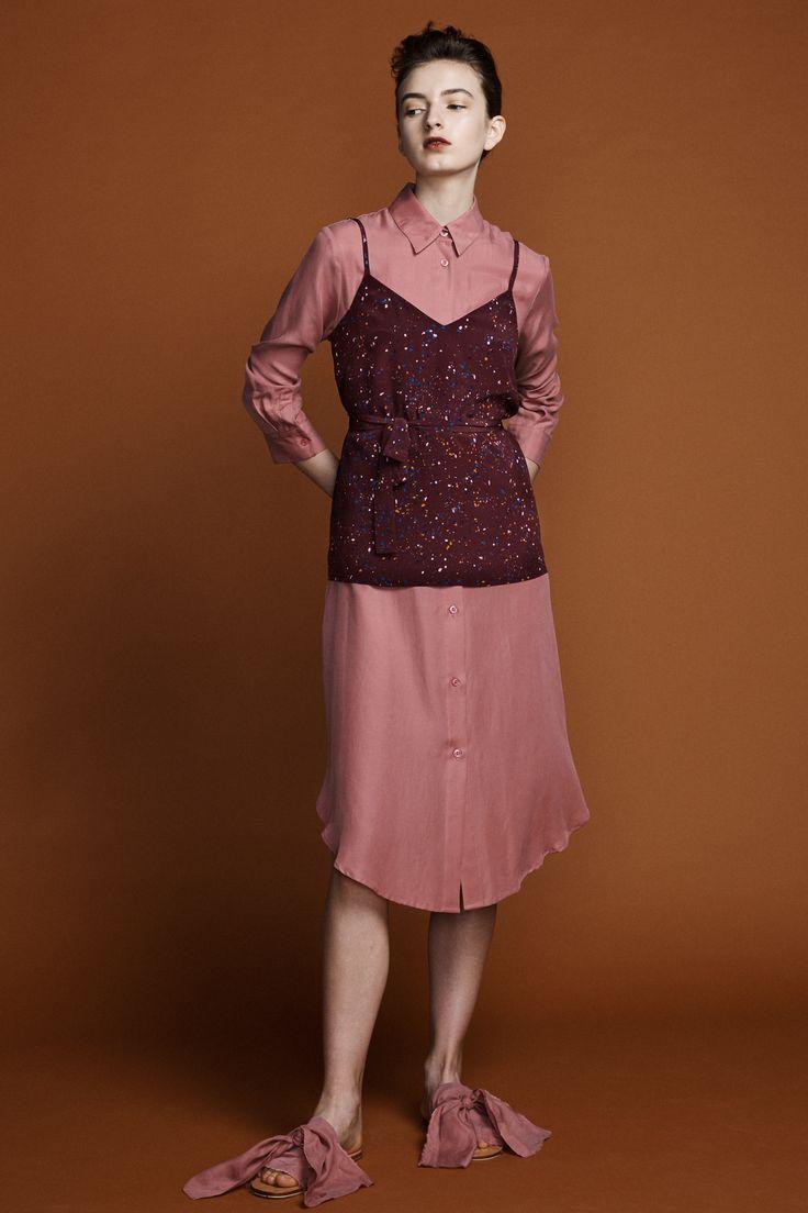 Dolly Camisole - Supernova Print Ranger Shirt Dress - Antique Rose