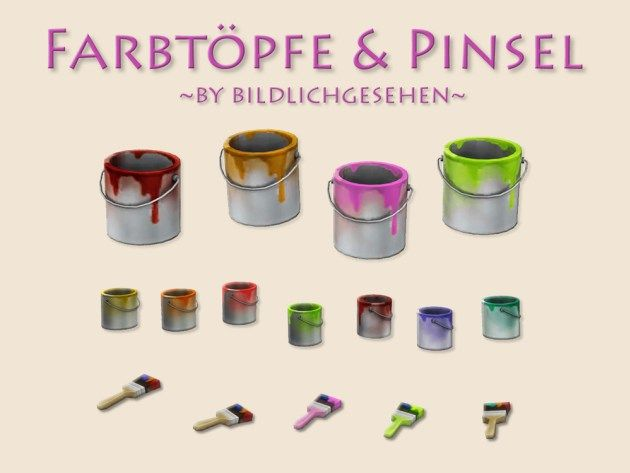 Farbtöpfe & Pinsel | Welcome to AKISIMA – free downloads with <3