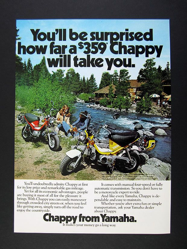 1975 Yamaha Chappy Mini Bike Motorcycle Photo Vintage Print Ad | eBay