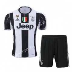 2016/17 Juventus Home White Black Thailand Soccer Uniform With Patches