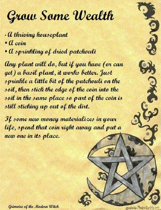 Grow Some Wealth (Printable Spells) – Witches Of The Craft®