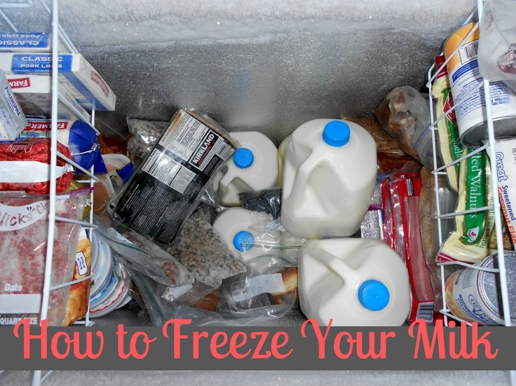 freezing milk and link to how to freeze other items. Now that I have a deep freeze, I need to think about stuff like this!