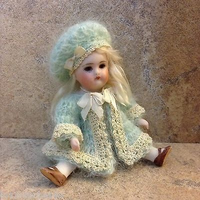 """VICTORIAN STYLE CROCHETED JACKET SET FOR 3 1/2"""" ALL BISQUE DOLL* by Tina (10/23/2014)"""