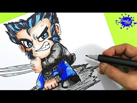 How to paint wolverine Step by Step / Como pintar awolverine  paso a paso / Easy art YouTube