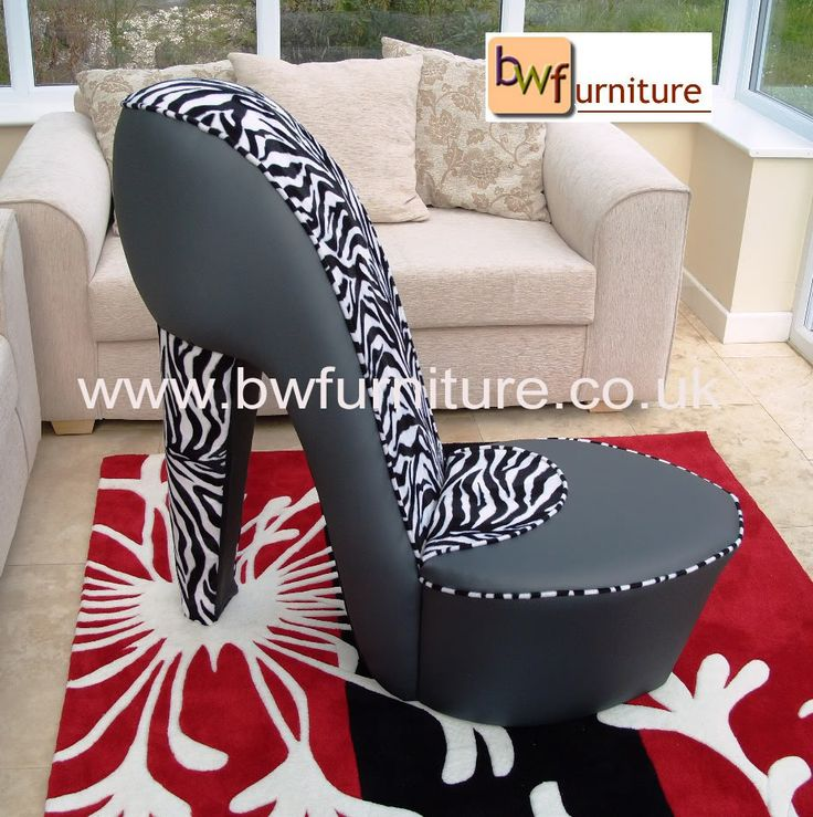 26 best shoe chair images on pinterest chairs couches for Stuhl zebra design