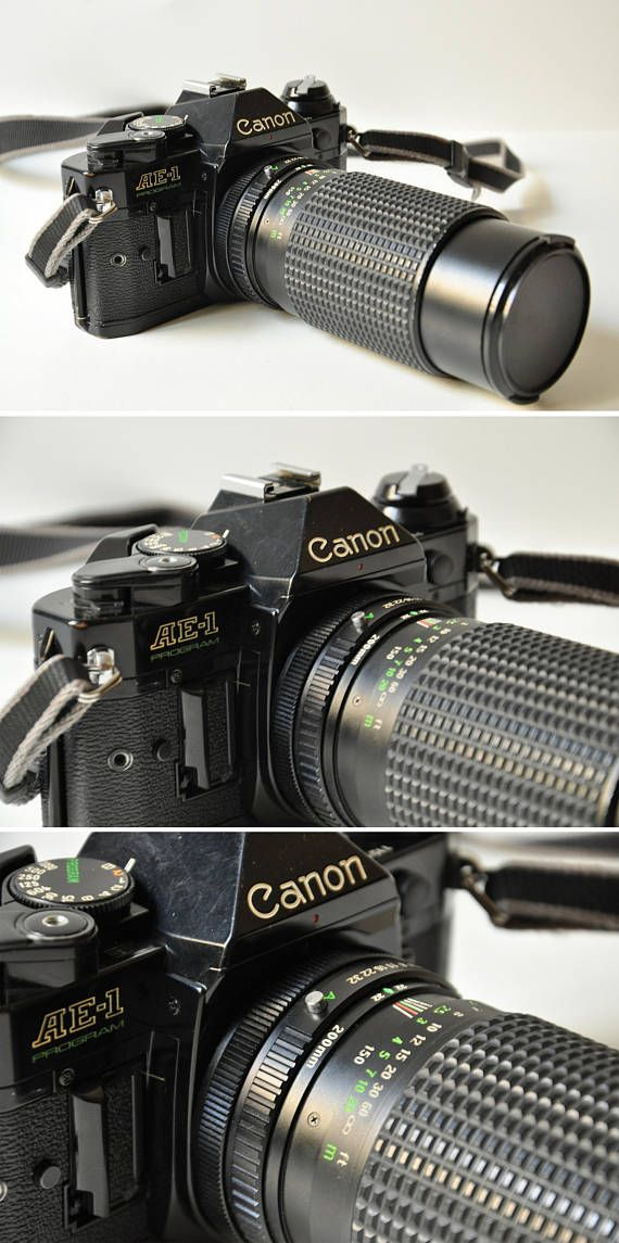"""This is the amazing Canon AE-1 Program SLR camera one of the most popular camera models of all time. It came out at a time when most of the features we now take for granted didn't even exist, and it was one of the first cameras to include an automatic shooting mode, awkwardly called """"Program"""" back in the day. This meant that regular users could produce extremely high-quality images by simply pointing the camera towards their subject and pressing the shutter release button.  It was introduced…"""