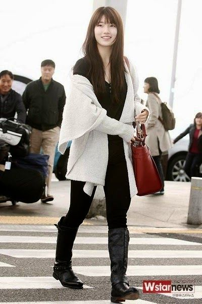 Top 10 Female Idols With Stylish Airport Fashion Part 1 Latest K Pop News K Pop News