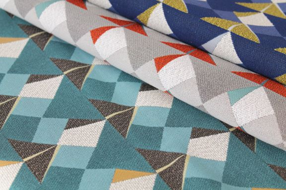 Koi - origami inspired fabric from Carnegie's Folds Collection