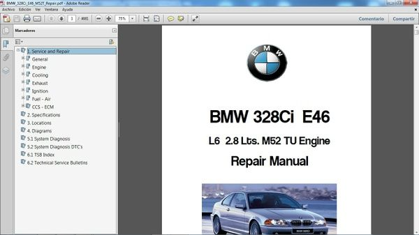 Bmw 328ci E46 Workshop Repair Manual Manual De Taller Repair Manuals Bmw Repair