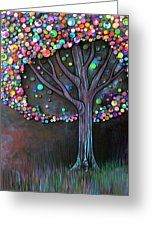 Button Tree 0006 Greeting Card by Monica Furlow