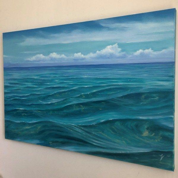 Oil Painting Original Handmade Night Wave Oil Painting Sea Etsy Ocean Painting Oil Painting On Canvas Beach Oil Painting