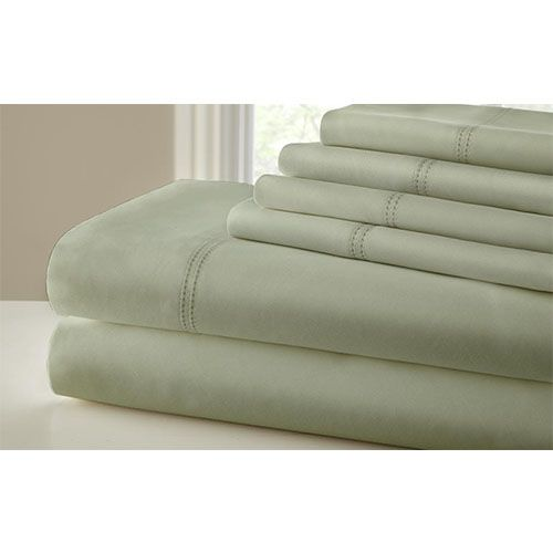 symphony sage sixpiece thread count california king sheet set - Cal King Sheets