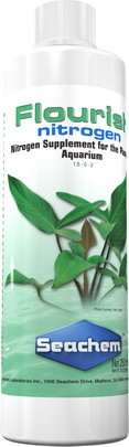 Fluorish Nitrogen 250 ml.  FLOURISH NITROGEN™ es un preparado concentrado (15,000 mg / L) de fuentes de nitrógeno. Provee nitrógeno tanto en forma de nitrato como en la forma preferida por las plantas, como amonio. Sin embargo, ningún amoníaco libre es liberado porque el amonio en Flourish Nitrogen™ es una molécula compleja e inutilizable hasta que es usado por las plantas. Flourish Nitrogen™ también provee nitrato para esas plantas q