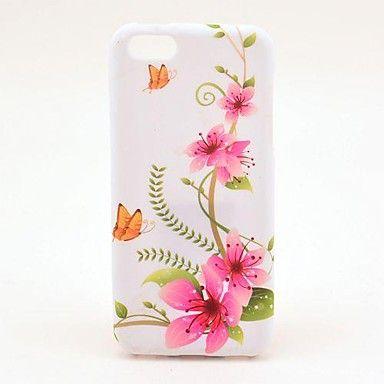 Pink Miss-gress blomstermønster TPU Soft Veske til iPhone 5C – NOK kr. 31