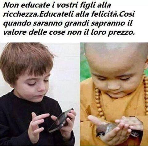Alcuni #insegnamenti sono imprescindibili. #ricchezza #felicità #cose
