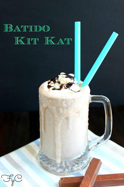Batido de kit kat facil