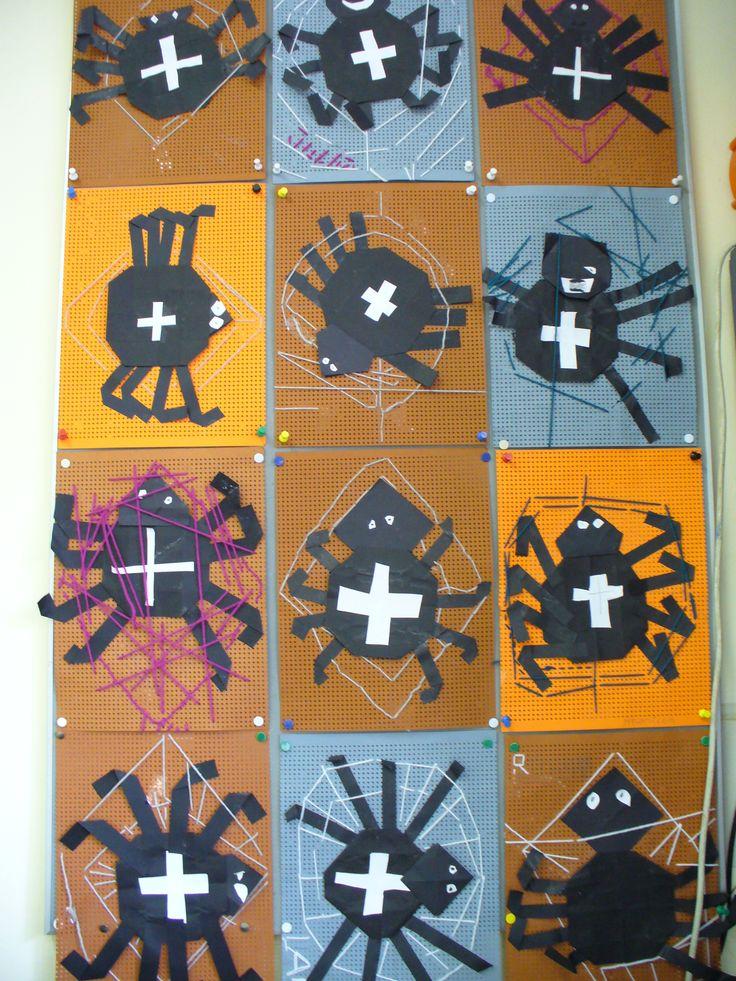 borduren spinnenweb