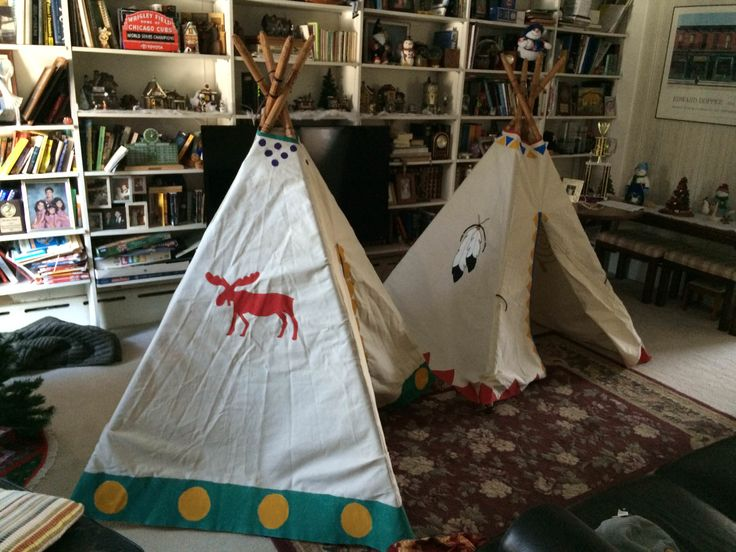 Teepees made for nieces and nephew #handmade #crafts #HowTo #DIY
