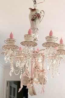 Teacup Chandelier...who would have thought!